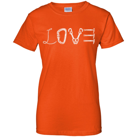 orange love mountain tshirt the peep hole store