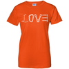 Image of orange love mountain tshirt the peep hole store