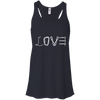 Image of black love mountain tshirt the peep hole store
