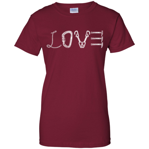 cardinal red love mountain tshirt the peep hole store