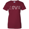 Image of cardinal red love mountain tshirt the peep hole store