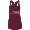 Image of maroon love mountain tshirt the peep hole store