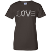 Image of dark chocolate love mountain tshirt the peep hole store