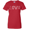 Image of red love mountain tshirt the peep hole store