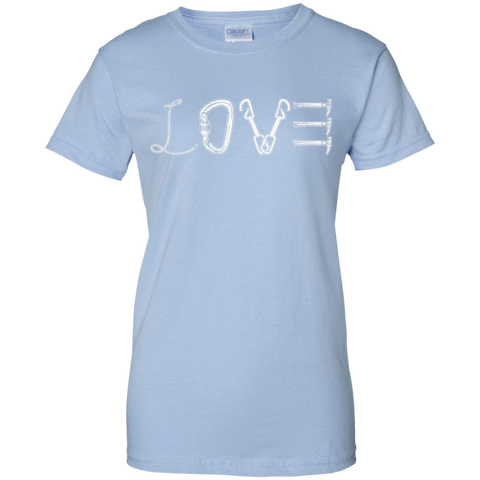 light blue love mountain tshirt the peep hole store