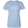 Image of light blue love mountain tshirt the peep hole store