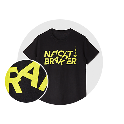 RAYNSIE | Braker Black Yellow | Reflective accessories for urban cycling, outdoor, festival and camping