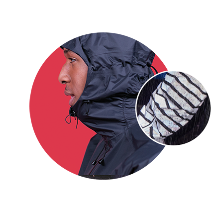 RAYNSIE | Dip Black Reflective | Waterproof onesie for urban cycling, outdoor, festival and camping