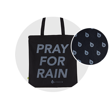 RAYNSIE | PrayForRain Bag | Reflective accessories for urban cycling, outdoor, festival and camping