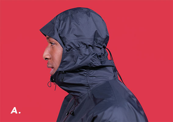 RAYNSIE | Adjustable hood | Waterproof onesie for urban cycling, outdoor, festival and camping