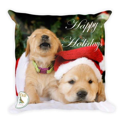 Happy Holidays Square Pillow
