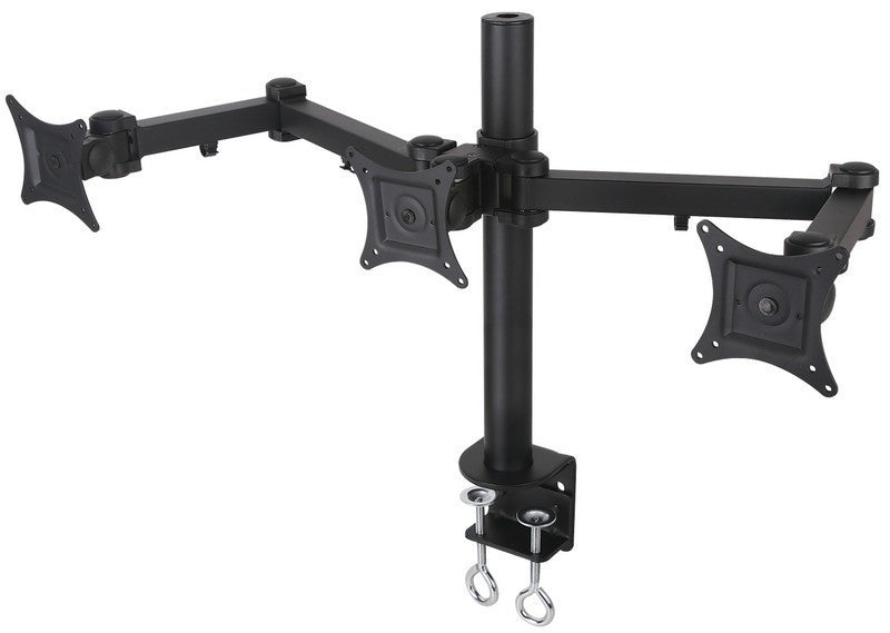 Triple LCD Monitor Desk Mount Stand Heavy Duty Adjustable 3 Screens upto 24""