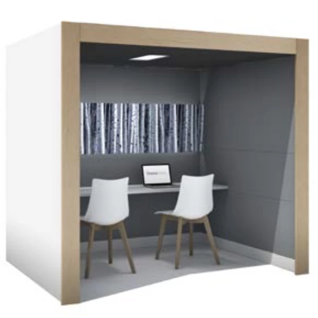 Pods office Concentration Oasis Linear Team Booth Office 1010 Phone Boothspods Office 1010