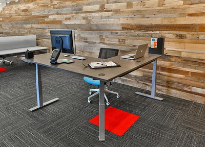 JAKE L-Shaped Height-Adjustable Workstation