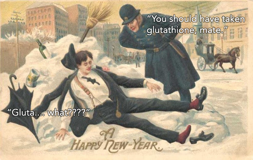 How to HACK a New Year's eve hangover with glutathione