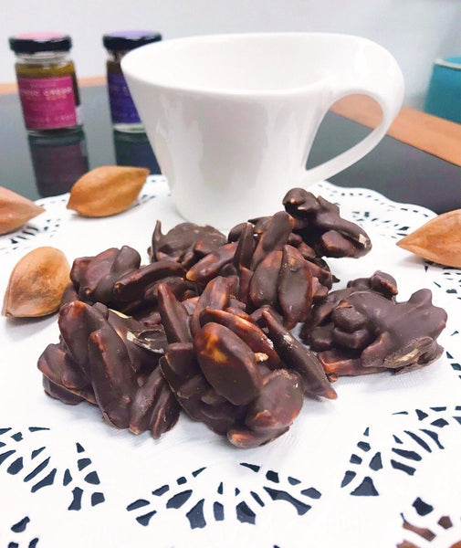 Sugar-free organic chocolate bites with Pili nuts 120g - Healtholicious One-Stop Biohacking Health Shop