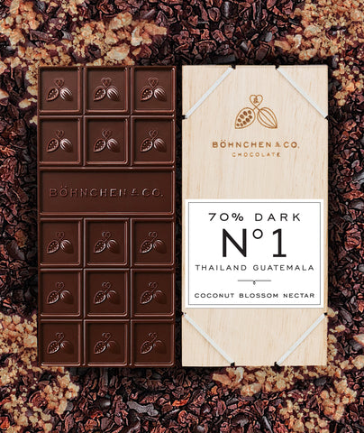 Image of Organic Dark Chocolate with Artisan Coconut Blossom Nectar - Healtholicious One-Stop Biohacking Health Shop