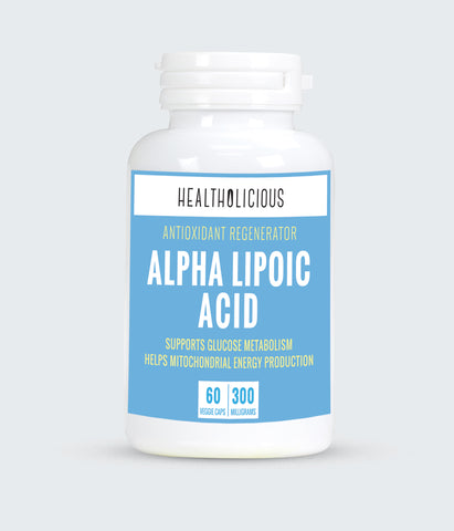 Image of Alpha lipoic acid powder (65mg, 60 veggie capsules) - Healtholicious One-Stop Biohacking Health Shop