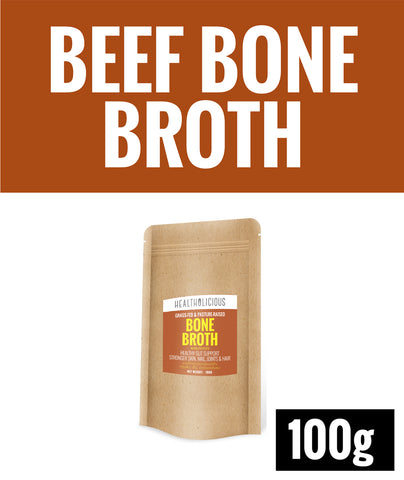 Pasture-Raised Beef Bone Broth Powder [100g] - Healtholicious One-Stop Biohacking Health Shop
