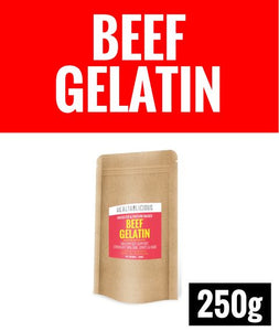 Pasture-Raised Beef Gelatin Powder [250g] - Healtholicious One-Stop Biohacking Health Shop