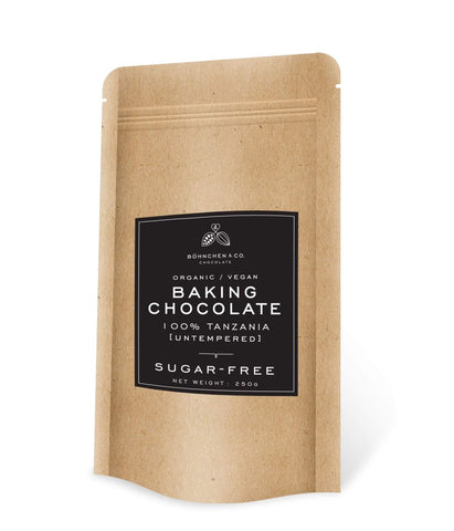 Baking Chocolate: 100% Tanzania (organic) 250g - Healtholicious One-Stop Biohacking Health Shop