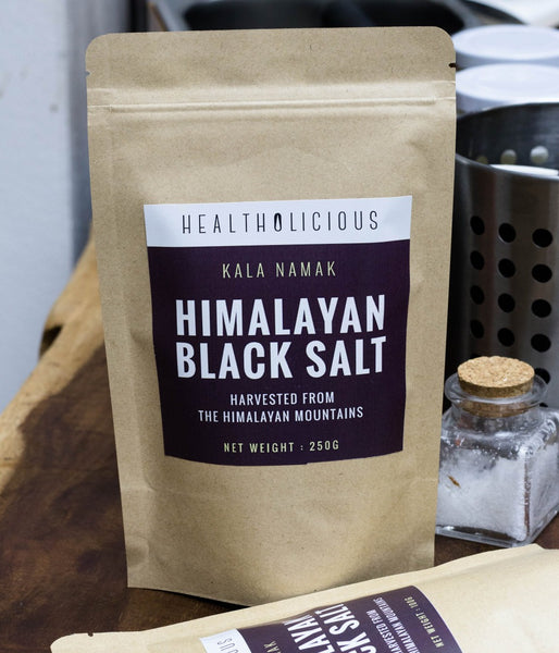 Himalayan Black Salt - Kala namak - Fine Grain - Vegan's Must-have ingredient! - Healtholicious Co. Ltd.
