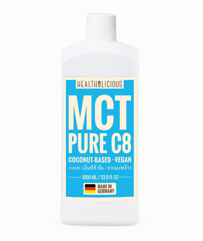 KETO MAX! PURE C8: Coconut MCT oil (Made in Germany) - Healtholicious One-Stop Biohacking Health Shop