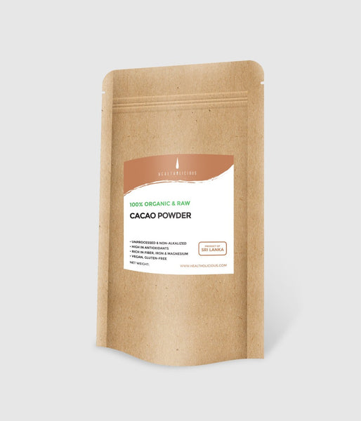 Organic cacao powder from Sri Lanka: raw, gluten-free, vegan - Healtholicious One-Stop Keto Shop Bangkok