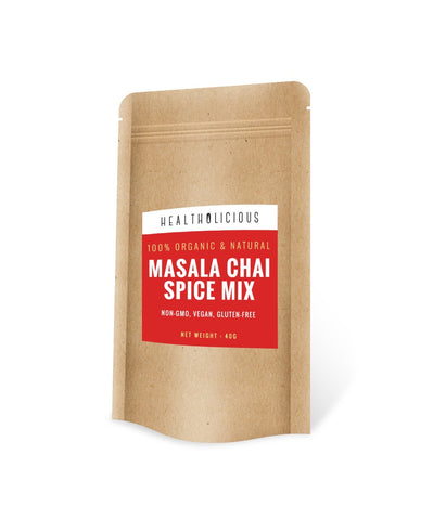 Organic Masala Chai Spice Mix 40g - Healtholicious One-Stop Biohacking Health Shop