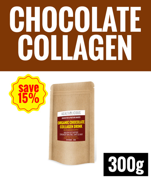 15% SPECIAL DEAL OF THE MONTH ! Organic Chocolate Collagen Drink [300g] - Healtholicious One-Stop Biohacking Health Shop