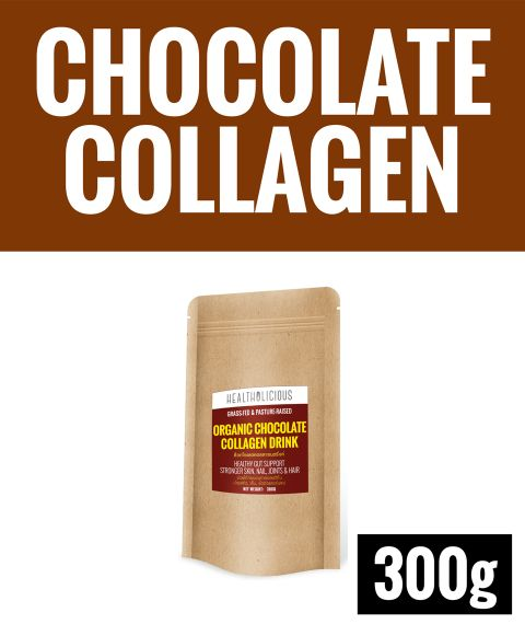 Organic Chocolate Collagen Drink [300g] - Healtholicious One-Stop Biohacking Health Shop