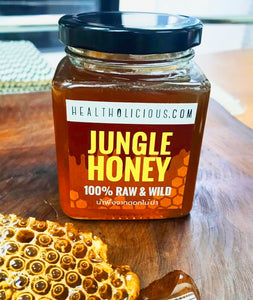 Raw Jungle Honey from Wild Flowers 360g - Healtholicious One-Stop Biohacking Health Shop