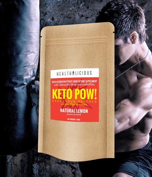 Keto Pow : Fat Burning Beta-Hydroxybutyrates (BHB salts) - Healtholicious One-Stop Biohacking Health Shop