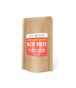 KETO SWEET : Monkfruit Sweetener with Erythritol 250g - Healtholicious One-Stop Biohacking Health Shop