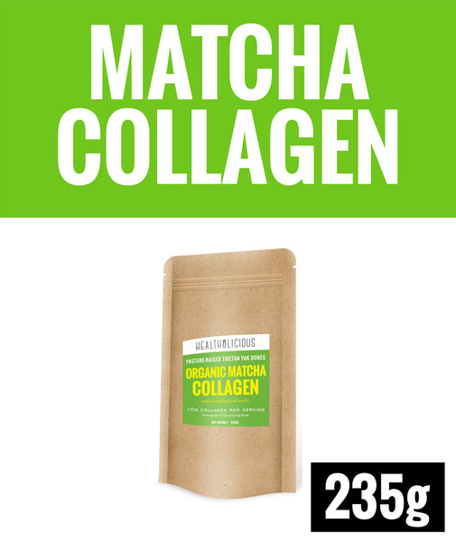 Organic Uji Matcha Collagen Drink [235g] - Healtholicious One-Stop Biohacking Health Shop