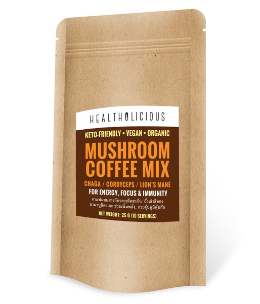 Mushroom Coffee - Certified Organic : ENERGY / IMMUNE / ULTIMA - Healtholicious One-Stop Biohacking Health Shop