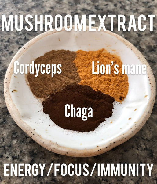 Certified Organic Mushroom Extract Powder for energy, focus and immunity: 60 portions