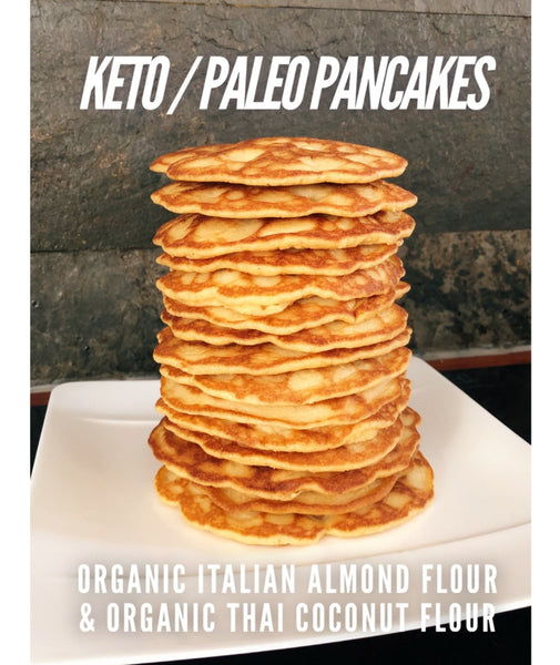 Organic Keto Pancake mix (organic almond flour / coconut flour) - Healtholicious One-Stop Biohacking Health Shop