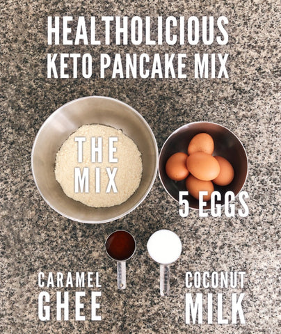 Organic Keto Pancake mix (gluten-free) - Healtholicious One-Stop Biohacking Health Shop
