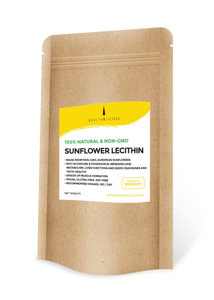 Cold-pressed sunflower lecithin for brain health - Healtholicious Co. Ltd.