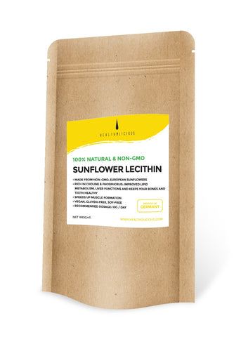 Cold-pressed organic sunflower lecithin 200g - Healtholicious One-Stop Biohacking Health Shop