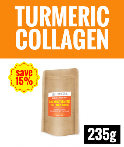 15% SPECIAL DEAL OF THE MONTH ! Organic Turmeric Collagen Drink [235g] - Healtholicious One-Stop Biohacking Health Shop