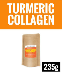 Organic Turmeric Collagen Drink [235g] - Healtholicious One-Stop Biohacking Health Shop