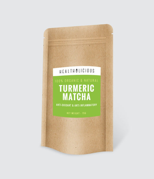 Organic Matcha Turmeric Tea (Japan/Sri Lanka) 75g - Healtholicious One-Stop Biohacking Health Shop