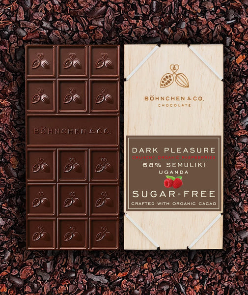 Sugar-Free Dark Chocolate Bars: keto-friendly ! BUY 5 and get 30% ! - Healtholicious One-Stop Biohacking Health Shop