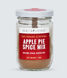 Organic Apple Pie Spice (cinnamon, nutmeg, clove, cardamom) 50g - Healtholicious One-Stop Biohacking Health Shop