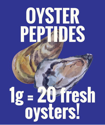 Image of Oyster Peptides (18g): equivalent to 360 fresh oysters - Healtholicious One-Stop Biohacking Health Shop