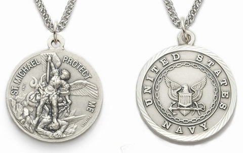 Sterling silver us navy pendant saint michael the archangel sterling silver us navy pendant saint michael the archangel aloadofball Choice Image