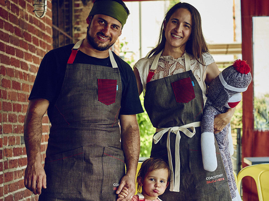Bestia and BlueCut Chef's Love Apron | Benefiting CoachArt