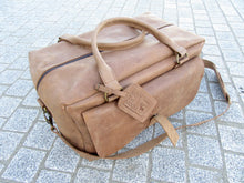Royal Medium Carry-On Leather Weekender Bag - Light Brown